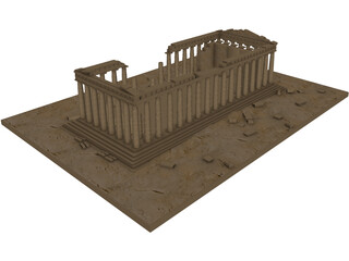 Parthenon Ruins 3D Model