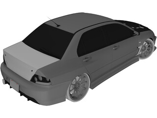 Mitsubishi Lancer Evo IX C-West Style 3D Model