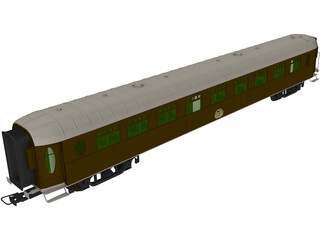 Train Coach 2nd Class 3D Model