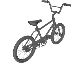 Bicycle BMX 3D Model