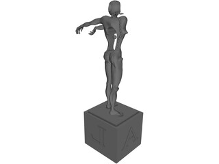 Abstract Dali Statue 3D Model