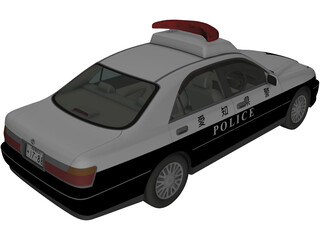 Toyota Crown Police 3D Model