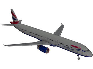 Airbus A321 British Airways 3D Model