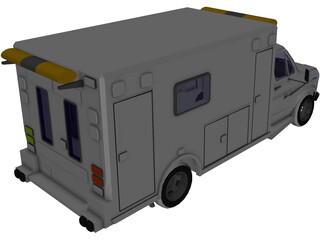 Ford Ambulance 3D Model