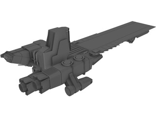 Alien Carrier 3D Model