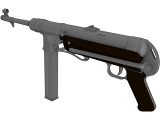 MP-40 Sub Machine Gun 3D Model