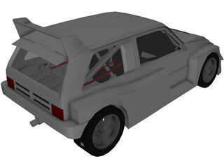MG Metro 6R4 Group B 3D Model