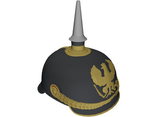 Prussian Helmet 3D Model