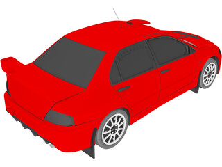 Mitsubishi Lancer Evolution IX 3D Model