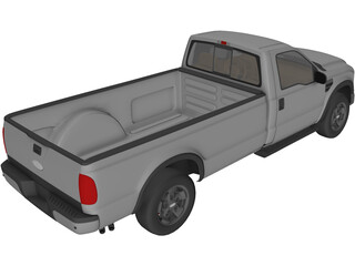 Ford F-250 Regular Cab (2009) 3D Model