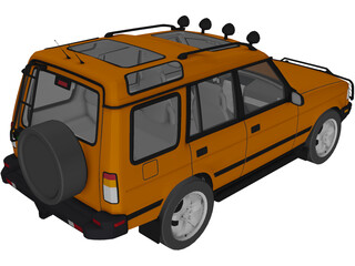 Land Rover Discovery G4 Challenge 3D Model