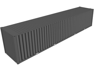 Shipping Container 40x08x08 3D Model