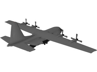 Lockheed AC-130 Hercules 3D Model