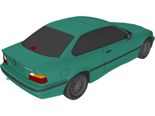 BMW 318i Coupe (1996) 3D Model