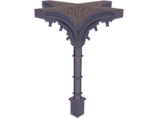 Column, 1800s Ornate 3D Model