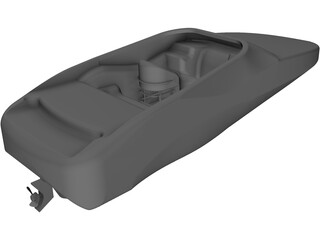 Baja 252 Boss Large Boat 3D Model