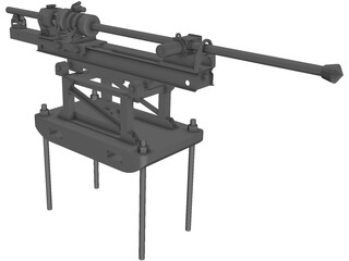 Rock Drilling Machine 3D Model