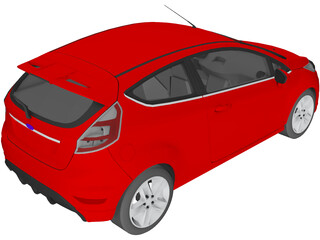 Ford Fiesta 3-door (2009) 3D Model