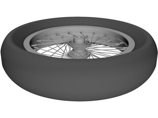 Wheel Rear 20 spoke 3D Model