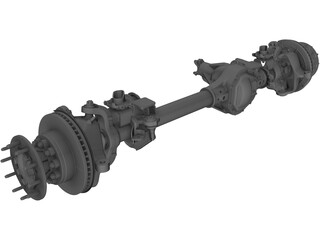 Front Axle F550 3D Model