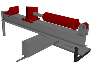 I Beam Log Splitter 3D Model