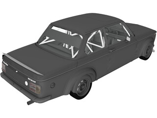 BMW 2002 Turbo (1973) 3D Model