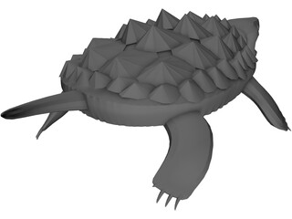 Alligator Turtle (Macrochelys Temminckii) 3D Model