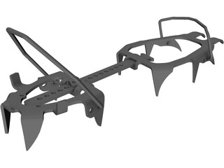 Mountainerin Crampon 3D Model