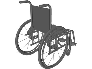 Wheelchair Foldable 3D Model