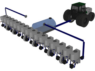 Kinze Corn Planter 3D Model