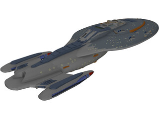 Star Trek Voyager 3D Model