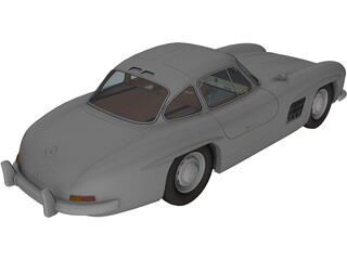 Mercedes-Benz 300 SL Gullwing (1950) 3D Model