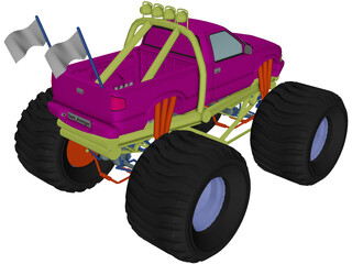 Chevrolet S10 Pickup [Monster Truck] 3D Model