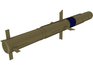 TOW Missile 3D Model