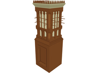 Wind Tower UAE  3D Model