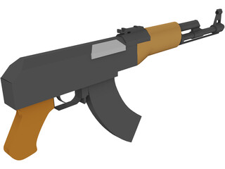 AK-47 Assault Rifle 3D Model