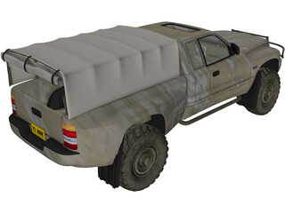 Dodge RAM Army 3D Model