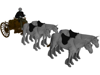 Polish Horse Transport (1939) 3D Model