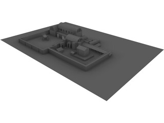 Roman Bath House and Temple 3D Model