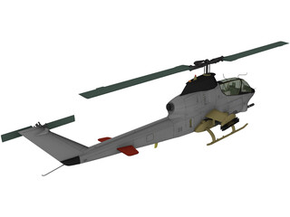 AN-12 Helicopter 3D Model