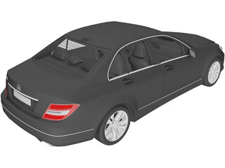 Mercedes-Benz C-class (2012) 3D Model
