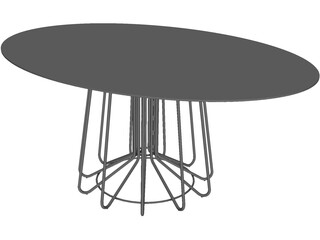 Zanotta Big Wire Elipse Table 3D Model