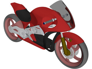 Motorcycle Concept 3D Model