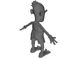 Alien Style Cartoonish Character 3D Model