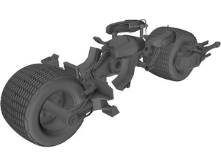 Batman The Dark Knight Batpod Motorcycle 3D Model