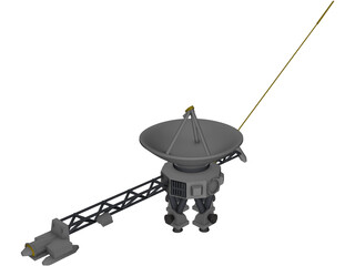 Voyager Space Craft 3D Model