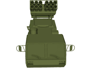 US HIMARS MLRS [+M977 Hemmt] 3D Model