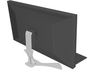Monitor, Keyboard and Mouse 3D Model