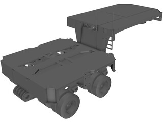 Goldhofer Hydraulic Gooseneck (2000) 3D Model