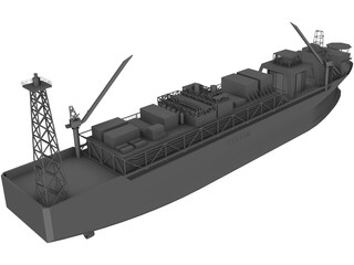 Norne Floating Production and Storage [FPSO] 3D Model
